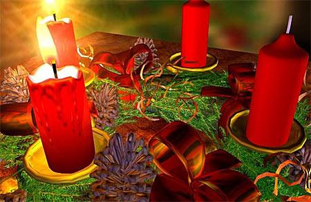 Adventskranz - Weihnachten Bildschirmschoner